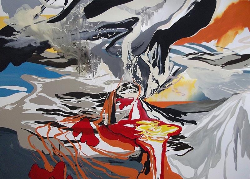 Aleas II, 2010, painting by Marie-Dolma Chophel