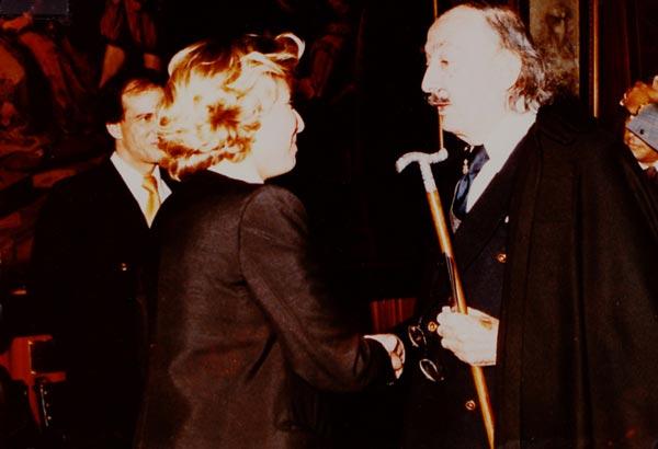 William Gelender with Salvador Dalí