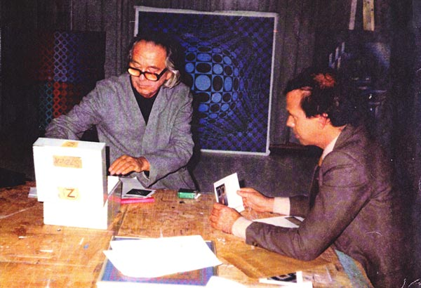 William Gelender with Victor Vasarely
