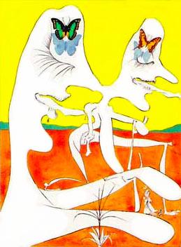 Papillons de l'anti-matière by Salvador Dalí | Color lithograph, hand signed. | c. 1974