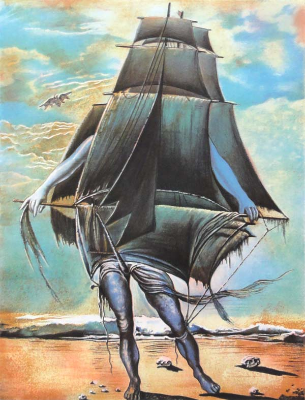 Statek (The Ship) by Salvador Dalí | Hand signed. |