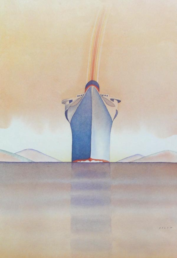 Boat by Jean-Michel Folon | Color lithograph. |